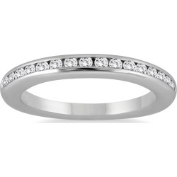 1/3 Carat TW Channel Set Diamond Band in 14K White Gold found on Bargain Bro from szul.com for USD $303.24