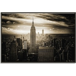 Empire State Canvas Wall Art Frame / Size: Black Floating Frame / 103.5 x 153.5 x 4.5cm found on Bargain Bro India from templeandwebster.com.au for $456.90