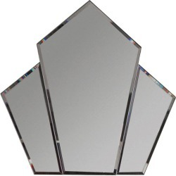 Chien Angled Diamond Wall Mirror Colour: Silver found on Bargain Bro Philippines from templeandwebster.com.au for $492.38