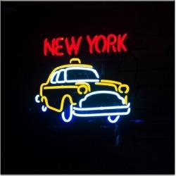 New York Neon Canvas Wall Art Frame / Size: Unframed / 76 x 76 x 3cm found on Bargain Bro India from templeandwebster.com.au for $168.26