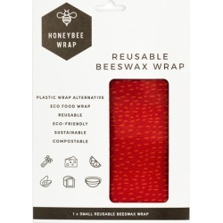 Small Hearty Beeswax Kitchen Wrap Colour: Red