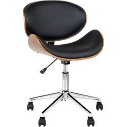 Black Bentwood Wings Faux Leather Office Chair found on Bargain Bro Philippines from templeandwebster.com.au for $78.07