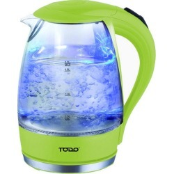 1.7L Cordless Removable Tea Infuser Glass Kettle Colour: Green