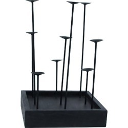 Black Brussels Metal Candle Pillars