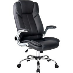 Priya Faux Leather Office Chair Colour: Black found on Bargain Bro India from templeandwebster.com.au for $95.19
