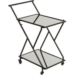Zander Mirrored Drinks Trolley