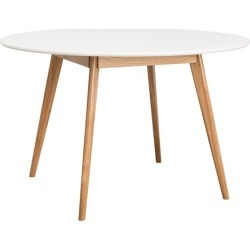 Oslo Round Dining Table Colour: White found on Bargain Bro India from templeandwebster.com.au for $273.24