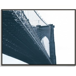 Brooklyn Bridge 1 Canvas Wall Art Frame / Size: Black Floating Frame / 77.5 x 103.5 x 4.5cm found on Bargain Bro India from templeandwebster.com.au for $326.66
