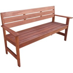 3 Seater Lazio Shorea Wood Outdoor Bench