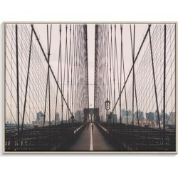 On Brooklyn Canvas Wall Art Frame / Size: Timber Floating Frame / 77.5 x 103.5 x 4.5cm found on Bargain Bro India from templeandwebster.com.au for $326.66