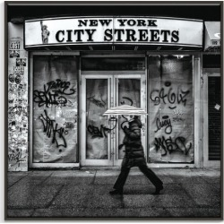 NY City Streets Canvas Wall Art Frame / Size: Black Floating Frame / 77.5 x 77.5 x 4.5cm found on Bargain Bro India from templeandwebster.com.au for $291.46