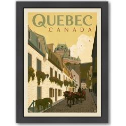 Canada Quebec Street Scene Printed Wall Art Frame / Size: Framed Paper Print / 65 x 47cm