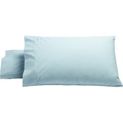 Set of 2 Heston 300TC Cotton Percale Pillowcase Colour: Blue, Size: King
