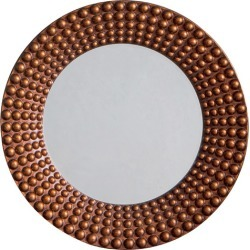 Ayrton Beaded Round Wall Mirror Colour: Bronze found on Bargain Bro Philippines from templeandwebster.com.au for $266.39