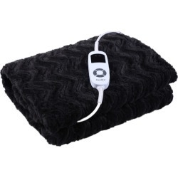Faux Fur Heated Throw Blanket Colour: Charcoal