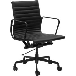 Deluxe Leather Eames Replica Management Office Chair Colour: Black found on Bargain Bro India from templeandwebster.com.au for $252.70