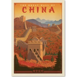 Great Wall of China Printed Wall Art Frame / Size: Unframed Paper Print / 42 x 30cm found on Bargain Bro India from templeandwebster.com.au for $27.27