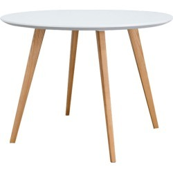 Elverum Round Dining Table Leg Colour: Natural found on Bargain Bro Philippines from templeandwebster.com.au for $307.48