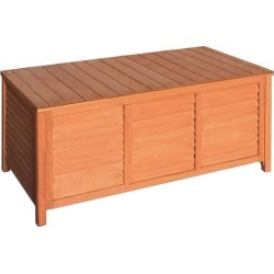 Outdoor Fir Wood Storage Bench