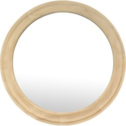 Natural Lexie Round Wall Mirror found on Bargain Bro Philippines from templeandwebster.com.au for $239.00