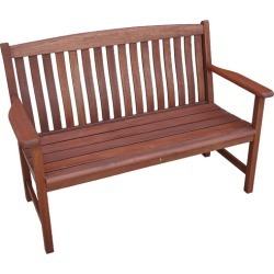 Luneburg 2 Seater Shorea Wood Outdoor Bench