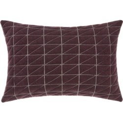 Arlo Quilted Cushion Colour: Aubergine found on Bargain Bro India from templeandwebster.com.au for $20.80