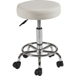 Sleek Faux Leather Salon Stool Colour: White found on Bargain Bro India from templeandwebster.com.au for $30.78