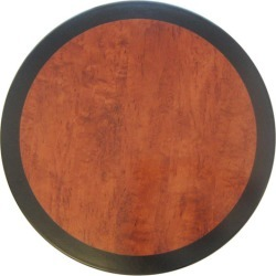 Cherry & Black Edge Round Resin Table Top Size: 70cm found on Bargain Bro India from templeandwebster.com.au for $47.90