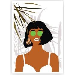 Summer Lovin Printed Wall Art Frame / Size: Black Framed Print / 45 x 32cm