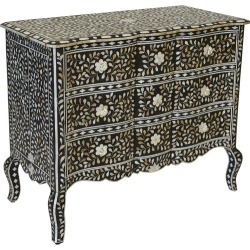 Black Aria Chest of Drawers