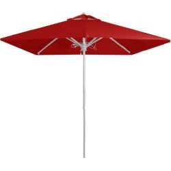 White Frame Outdoor Market Umbrella Colour: Red found on Bargain Bro India from templeandwebster.com.au for $123.97