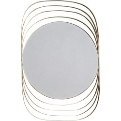 Roisin Round Wall Mirror Colour: Champagne