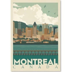Montreal Canada Skyline Printed Wall Art Frame / Size: Unframed Paper Print / 30 x 21cm