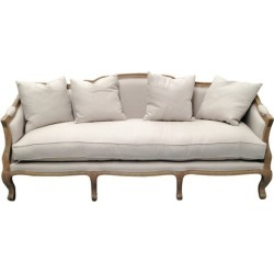 Linen European 3 Seater Sofa