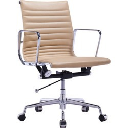 Eames Replica Leather Management Office Chair Colour: Light Brown found on Bargain Bro India from templeandwebster.com.au for $170.52