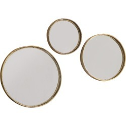 3 Piece Thandie Round Wall Mirror Set Colour: Natural found on Bargain Bro Philippines from templeandwebster.com.au for $177.37