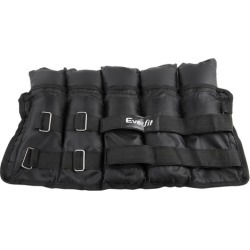Set of 2 5kg Ankle Weights with Adjustable Pair Strap