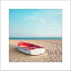 By the Seaside XIII Framed Print Frame Colour: White, Size: Large Square