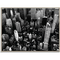 NY Streets Canvas Wall Art Frame / Size: Timber Floating Frame / 77.5 x 103.5 x 4.5cm found on Bargain Bro India from templeandwebster.com.au for $326.66