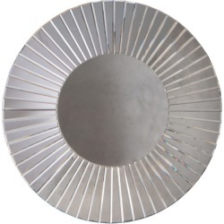 Margaretha Round Wall Mirror Colour: Silver