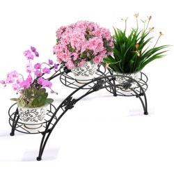 Decor Arch Wrought Iron Flower Rack Colour: Black found on Bargain Bro India from templeandwebster.com.au for $20.66
