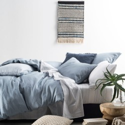 Blue Nimes Quilt Cover Set Size: King