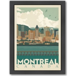 Montreal Canada Skyline Printed Wall Art Frame / Size: Framed Paper Print / 65 x 47cm