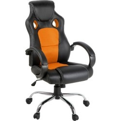 Racing Style Faux Leather Office Chair Colour: Orange found on Bargain Bro Philippines from templeandwebster.com.au for $78.07