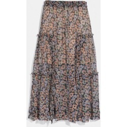 Long Skirt With Front Slits in Blue - Size 02 found on Bargain Bro UK from coach stores limited