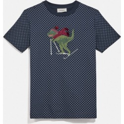 Rexy Dot T-shirt in Blue - Size M found on Bargain Bro UK from coach stores limited