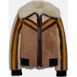 Shearling Bomber Jacket in Brown - Size 10 found on MODAPINS from coach stores limited for USD $939.35