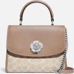 Parker Top Handle In Signature Canvas in Beige found on Bargain Bro UK from coach stores limited