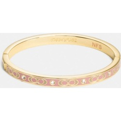 Signature Stone Hinged Bangle in Pink found on Bargain Bro UK from coach stores limited
