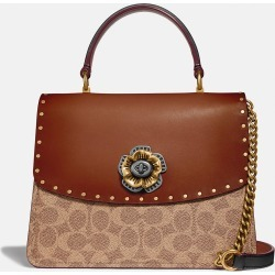 Coach Parker Top Handle In Signature Canvas With Rivets found on Bargain Bro UK from coach stores limited